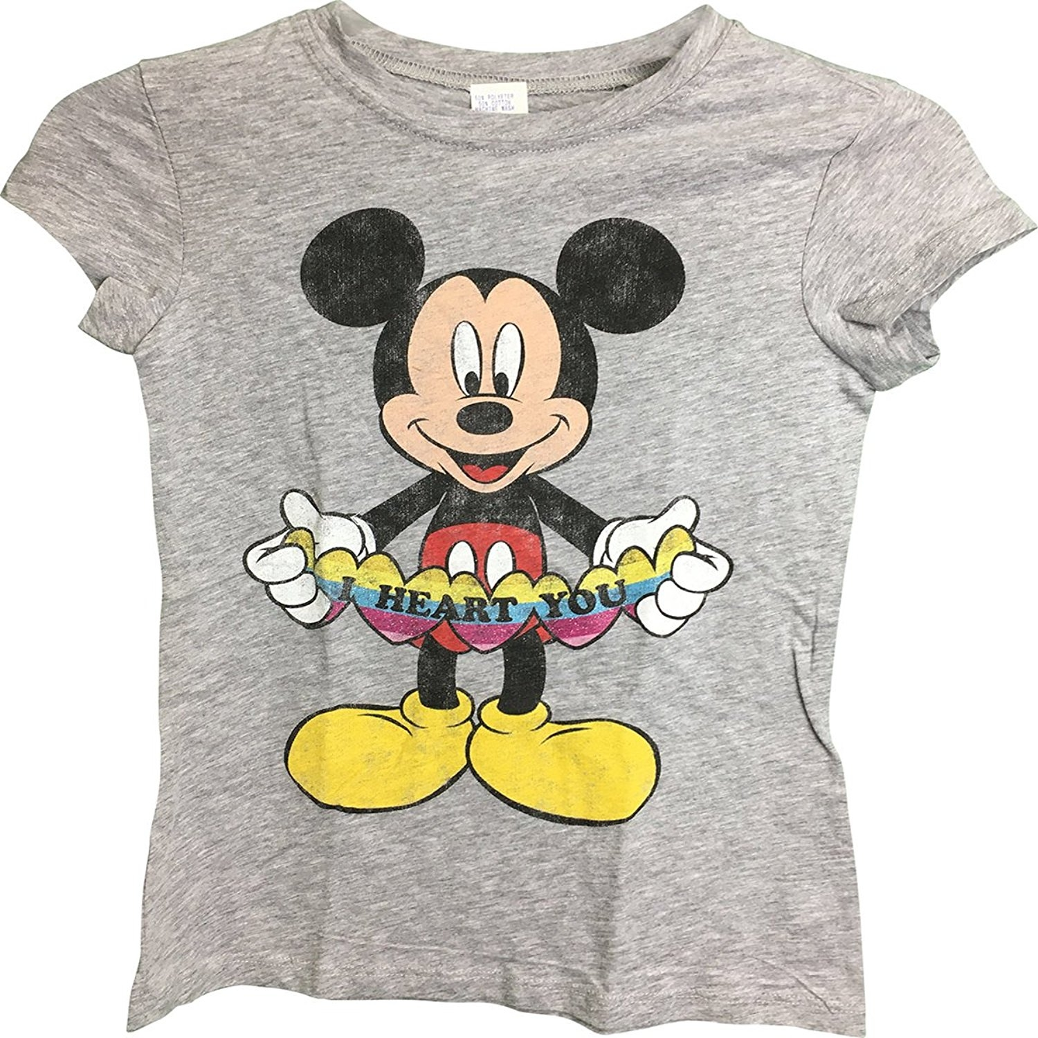 Mickey Mouse I Heart You T-Shirt Grey6/8