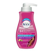 Hair Removal Cream  – VEET Silk and Fresh Technology  Legs & Body Gel Cream Hair Remover, Sensitive Formula with Aloe Vera and Vitamin E, 13.5 FL OZ Pump Bottle