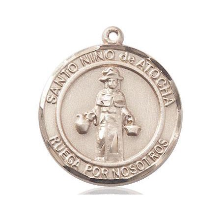 Gold Filled Findings Bezel (Nino De Atocha Medal in 14 KT Gold Filled)
