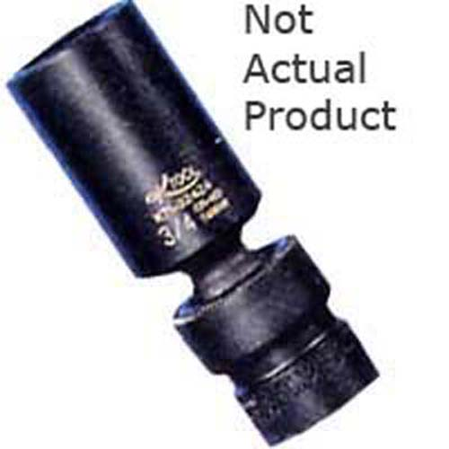"K Tool 32422 Impact Socket, 3/8"" Drive, 11/16"", 6 Point, Flex, Deep"