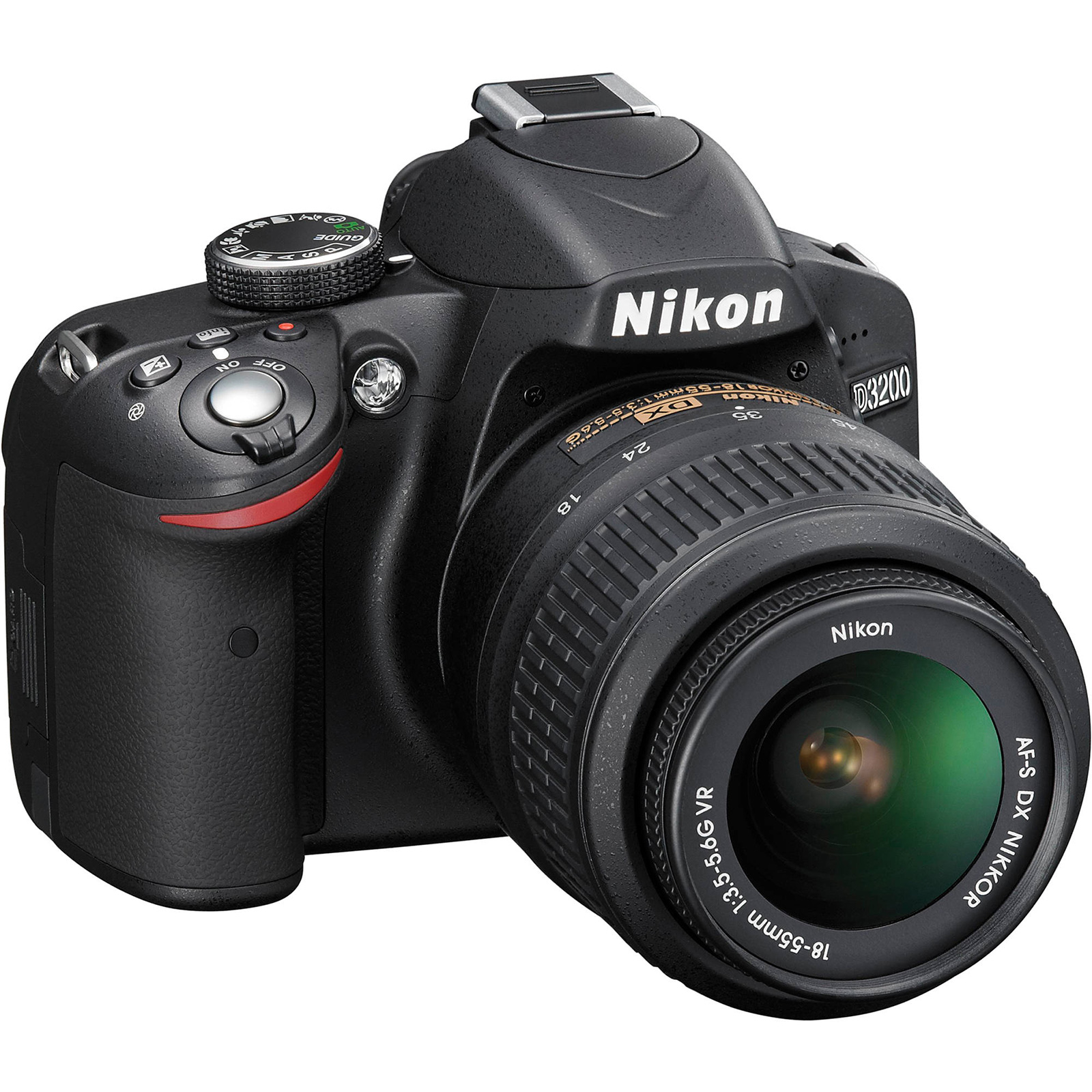 Nikon D3200 Digital SLR Camera & 18-55mm VR DX AF-S Zoom Lens (Black) -Factory Refurbished includes Full 1 Year Warranty