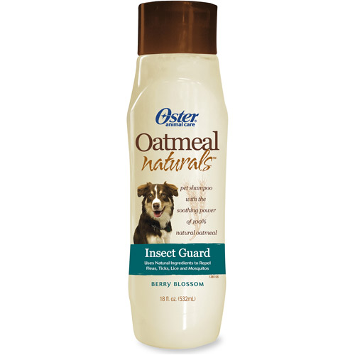 Oster Oatmeal Naturals Insect Guard Pet Shampoo, Berry Blossom, 18 fl oz