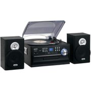 Best Compact Stereos - Jensen JTA475B 3-Speed Turntable with CD, AM/FM Stereo Review