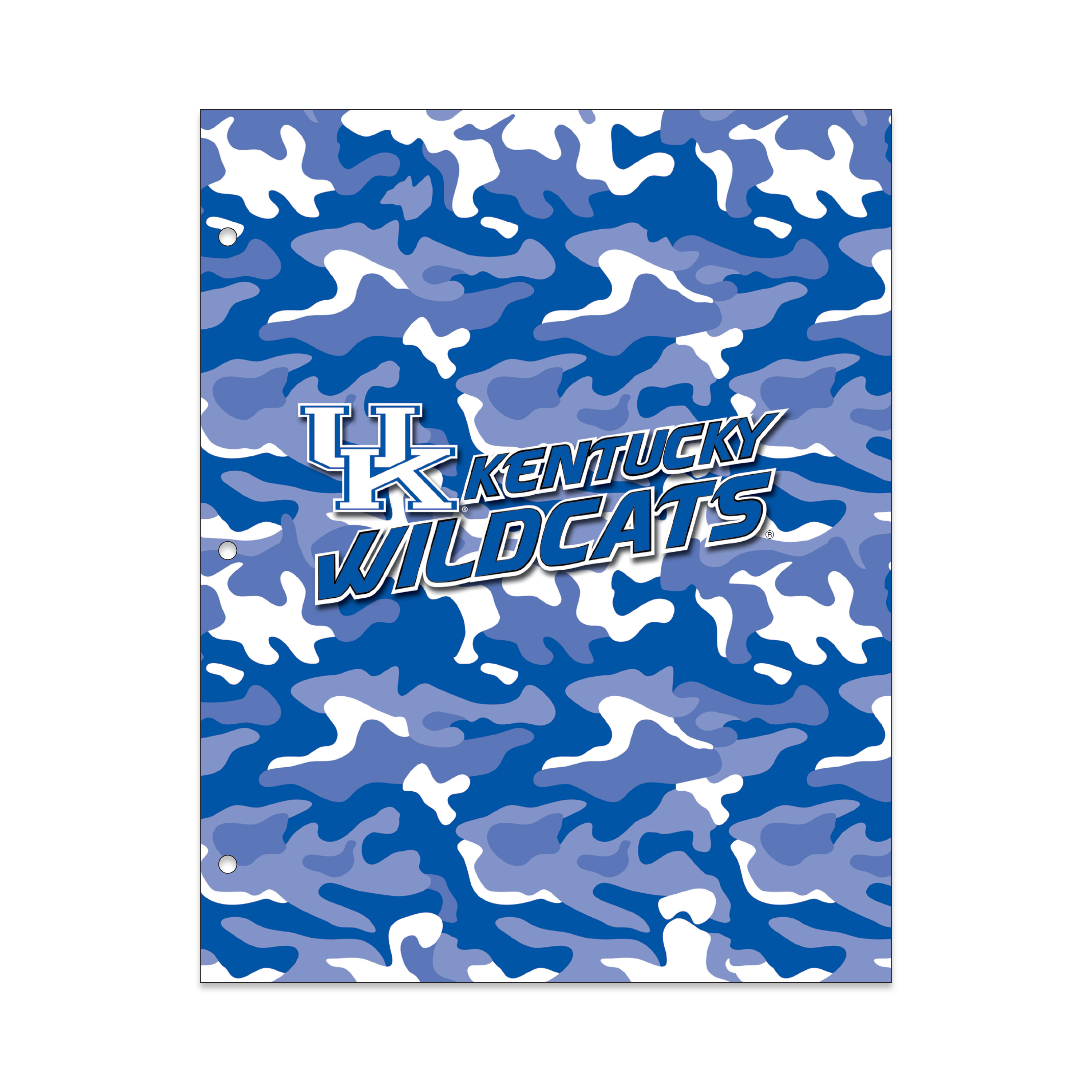 NCAA Kentucky Wildcats 2 Pocket Portfolio, Three Hole Punched, Fits Letter Size