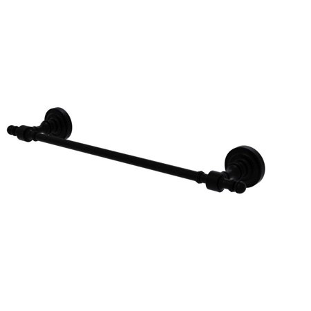 Retro Dot Collection 30-in Towel Bar in Matte Black