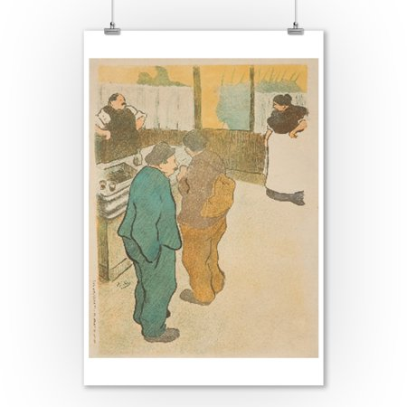 L'Escaramouche (before letters) Vintage Poster (artist: Ibels) France c. 1893 (9x12 Art Print, Wall Decor Travel Poster)