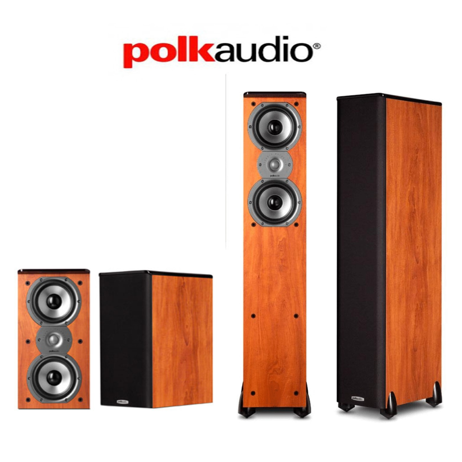 Polk Audio TSi 500 4.0 Home Theater Speaker Package (2) TSi500 + (2) TSi200 in Cherry by Polk Audio