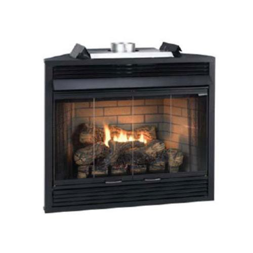 "Deluxe MV 34"" Flush Face B Vent Fireplace Natural Gas"