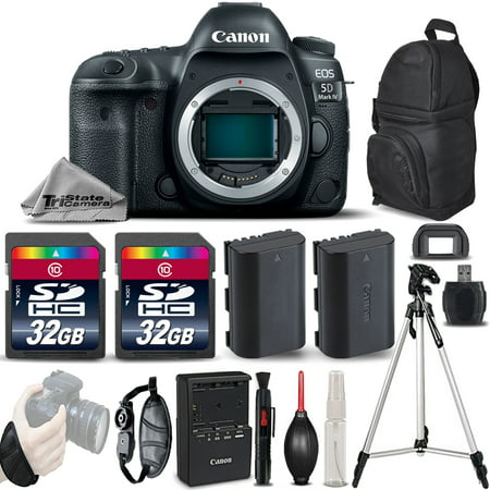 Canon EOS 5D Mark IV GPS WiFi NFC DSLR Camera Body + EXT BAT + Tripod - 64GB - Ems Gps