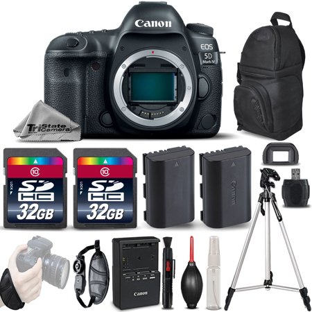 Canon EOS 5D Mark IV GPS WiFi NFC DSLR Camera Body + EXT BAT + Tripod - 64GB Kit