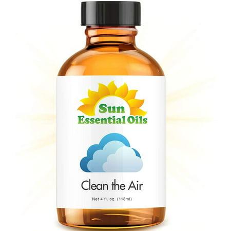 Cleaning Blend - Large 4 Ounce Best Essential Oil (Lemongrass, Lemon Eucalyptus, French Lavender, Rosemary & Tea