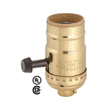 Leviton Solid Brass Shell (No Uno Thread), Cap, & 13/16