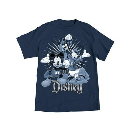 Disney Adult Fab 4 Hooray Goofy Donald Mickey & Pluto Tee Large](Goofy Sayings)