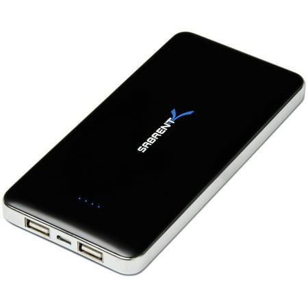 Sabrent 12000Mah Portable Backup Battery Power Bank Charger W  Dual Usb Ports