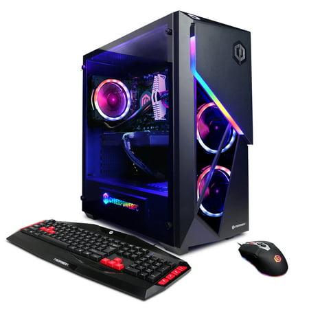 CYBERPOWERPC Gamer Supreme Liquid Cool SLC9208W w/ AMD Ryzen 7 2700X 3.7GHz, AMD Radeon VII 16GB, 16GB Memory, 512GB NVMe SSD, 2TB HDD and Windows 10 Home 64-bit Gaming