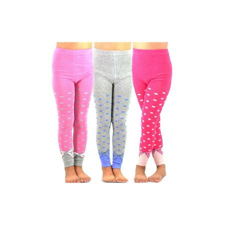 ef4d43c09c4b3 TeeHee Kids Girls Fashion Cotton Leggings(Footless Tights) 3 Pair Pack