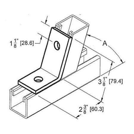 Morris Products 17638 2 Hole Open 45 Degree Corner Angle