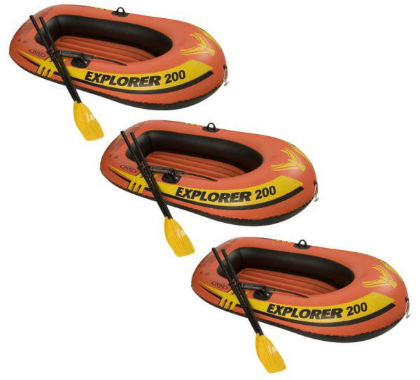 3) INTEX Explorer 200 Inflatable Two Person Raft Set - image 2 de 2