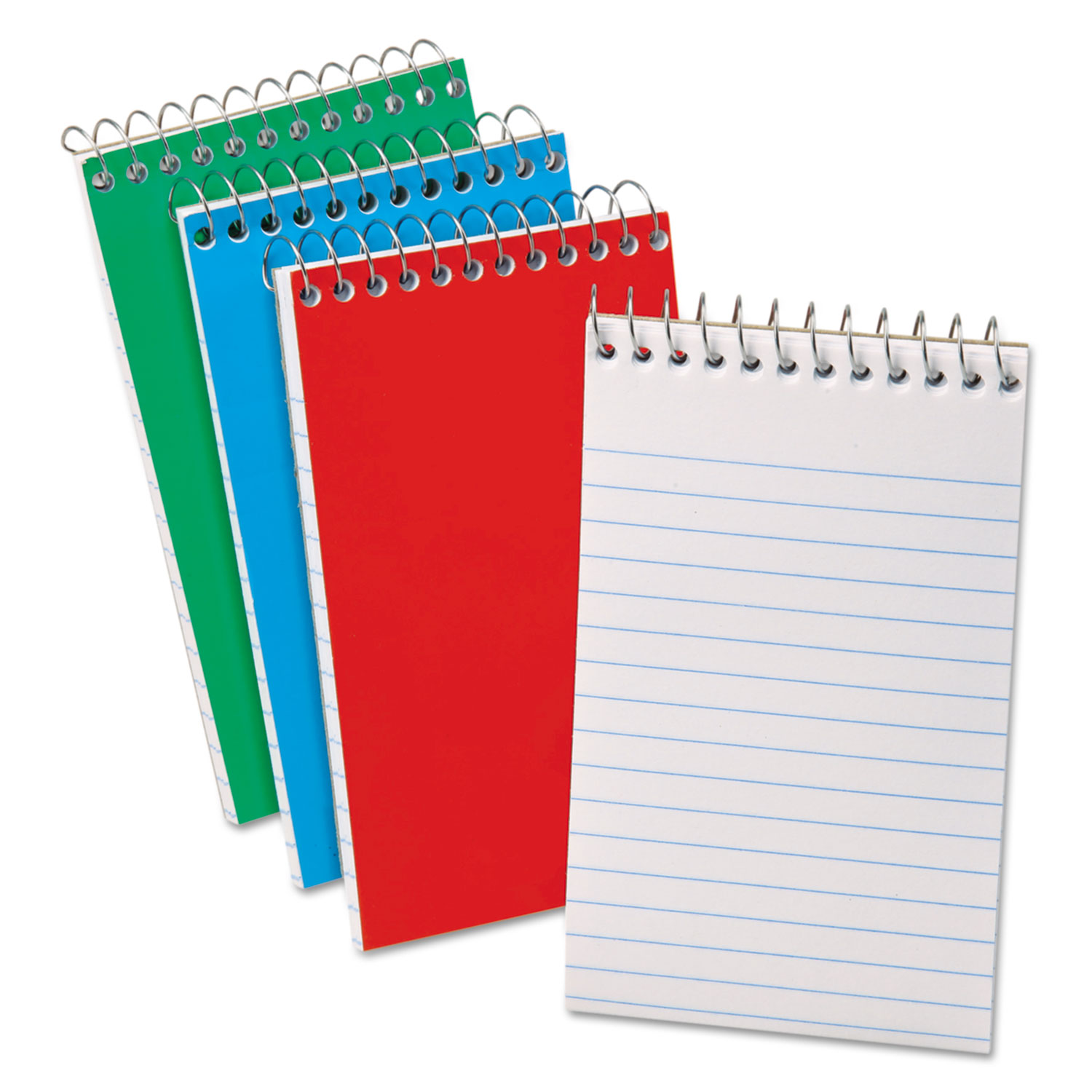 Oxford Memo Book, Pocket Sz., 15 lb., Narrow Ruled, 3/PK, Assorted - OXF45093