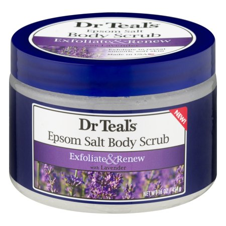 Dr Teal's Epsom Salt Body Scrub with Lavender, 16 (Green Tea Herbal Salt Scrub)