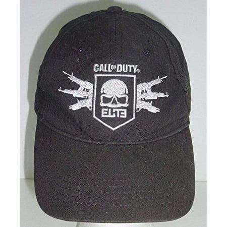 Baseball Cap - Call of Duty Elite - Ghost Skull Logo Black Flexfit New 726072 Elite 120 Caps