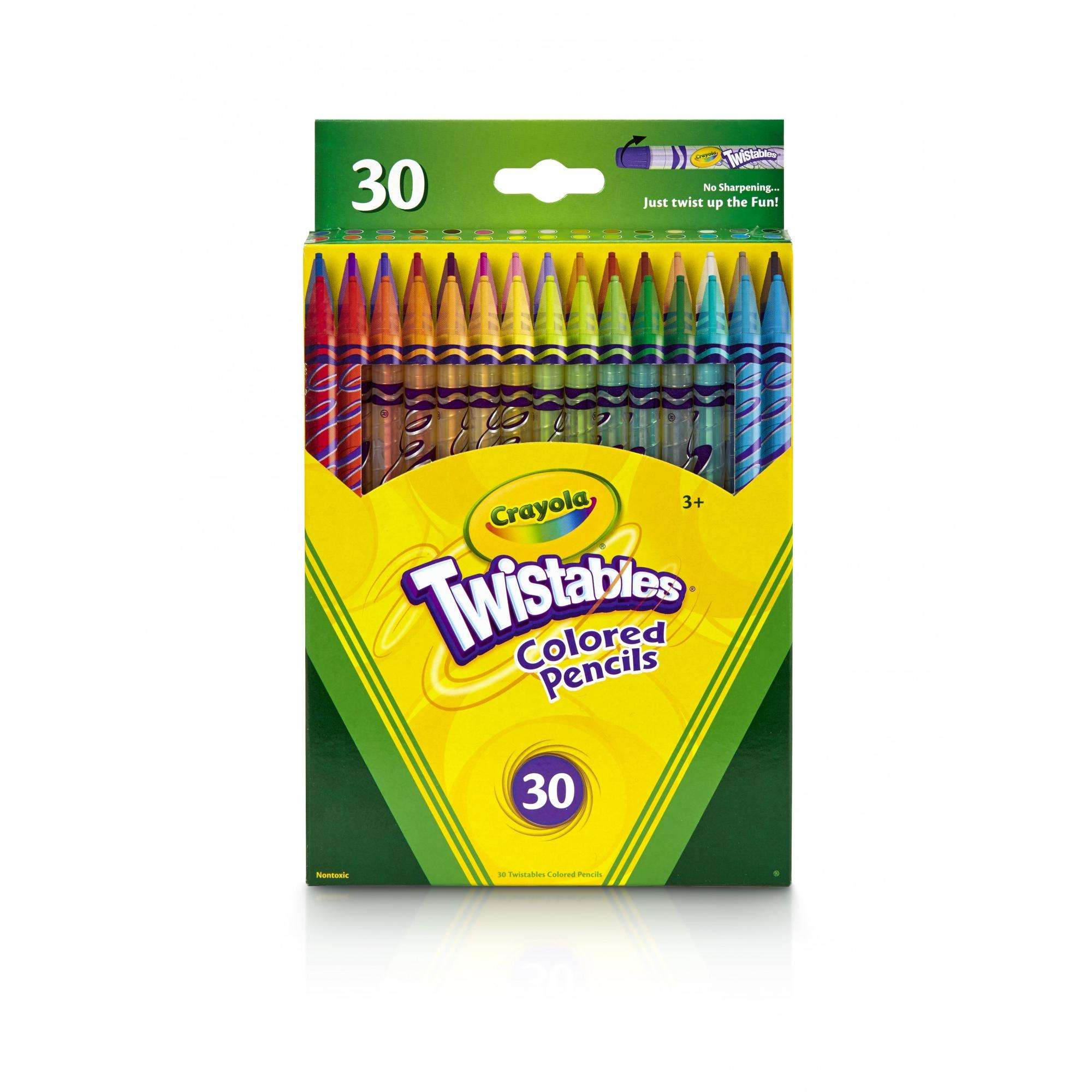 Crayola Twistables Colored Pencil Set, 30 Count