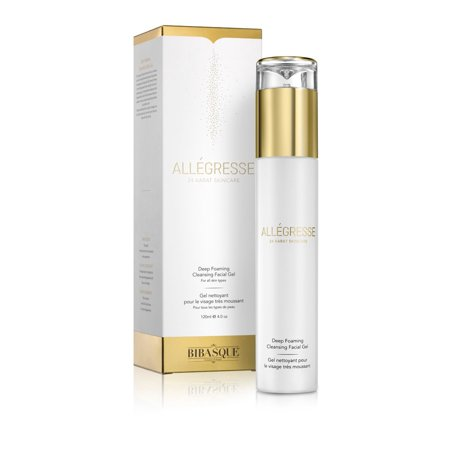 Allegresse 24K Gold Deep Foaming Cleansing Facial Gel  Size   4 Oz