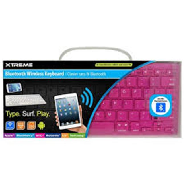 Xtreme Cables 59592 Bluetooth Wireless Keyboard - Pink