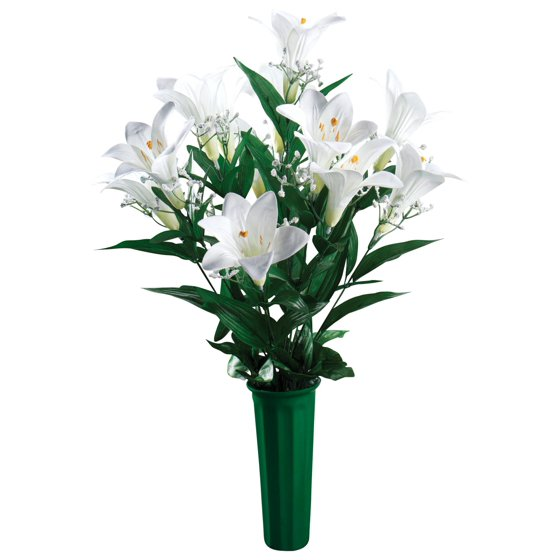 Easter Lily Memorial Bouquet by OakRidgeTM Outdoor