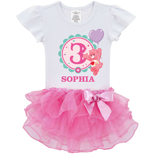 Personalized Care Bears Ready Set Fun Birthday Toddler Tutu Shirt