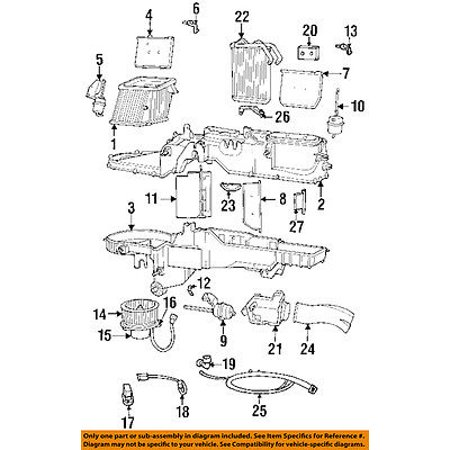 dodge ram 1500 fuel system diagram dodge chrysler oem 00 02 ram 3500 evaporator heater case 5012920ab  dodge chrysler oem 00 02 ram 3500