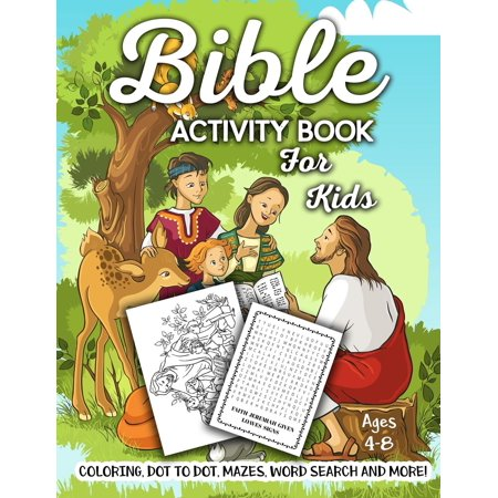 Bible Activity Book for Kids Ages 4-8: A Fun Kid Workbook Game for Learning, Coloring, Dot to Dot, Mazes, Word Search and More! (Paperback) - Dot To Dot Game