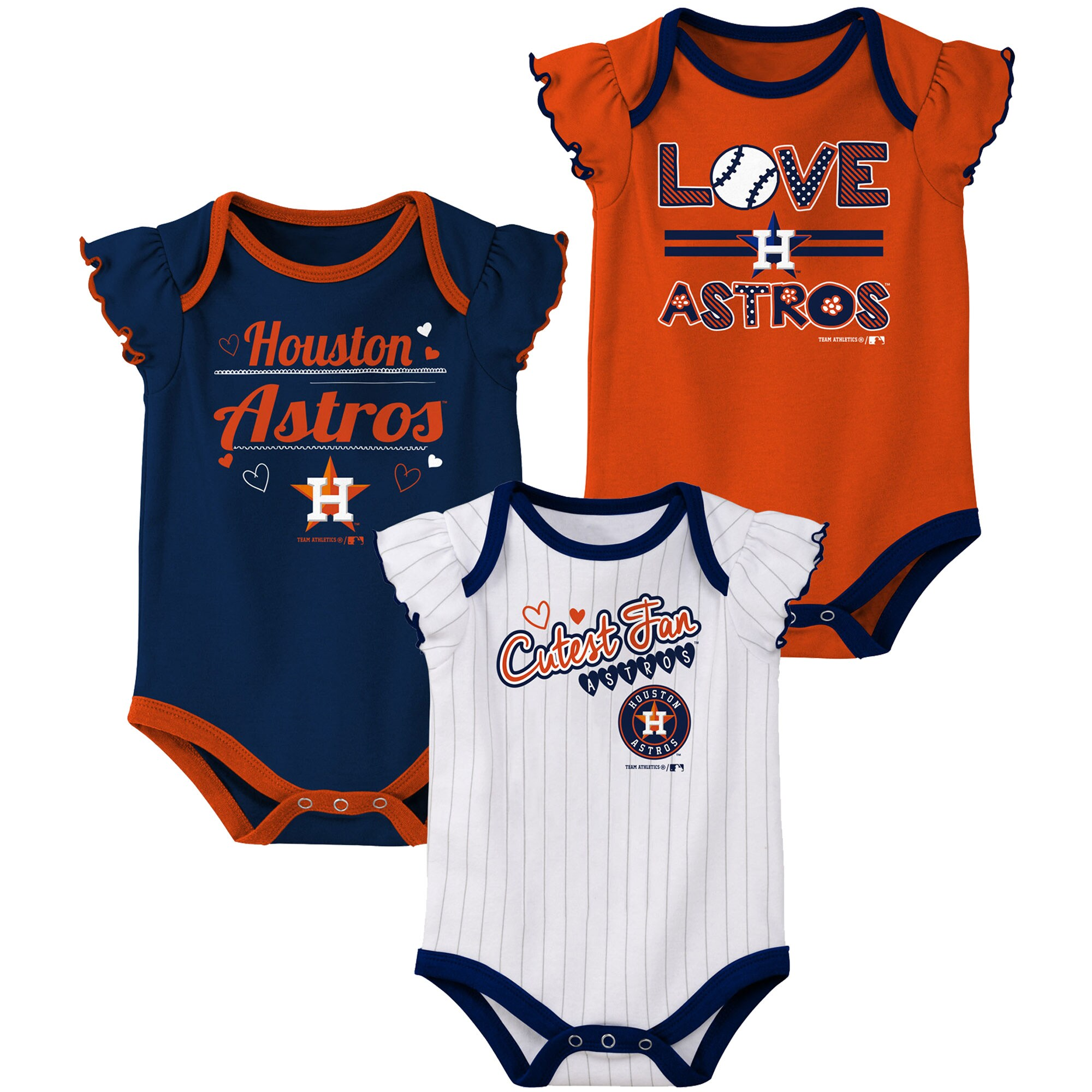 Astros Baby Girl Houston Astros Baby Girl Game Day Outfit Houston Astros Baby Clothes Astros Bodysuit