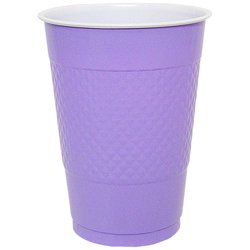 Hanna K Plasticware, Plastic Cup, Hydrangea, 16 Oz, 50 Ct