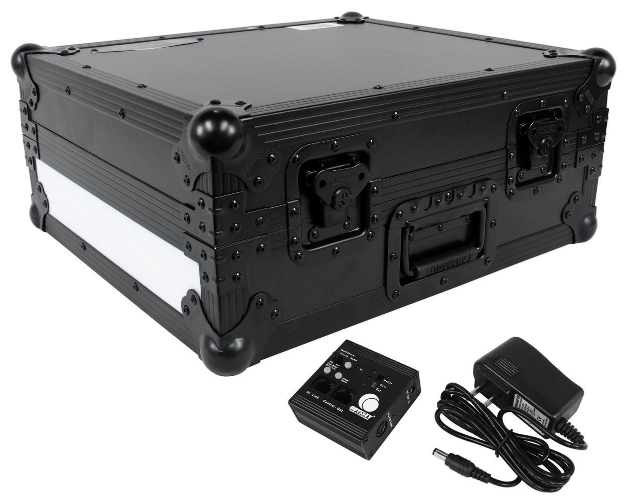 Odyssey FFX2RBM1200BL Flight FX Series DJ Turntable Case w Front+Right LED Panel by Odyssey