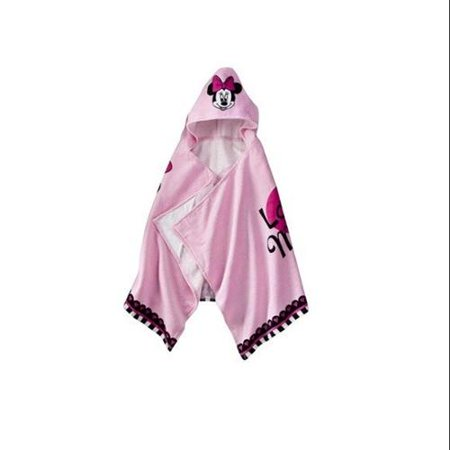 Disney Girls Terry Cloth Minnie Mouse Pink Hooded Bath