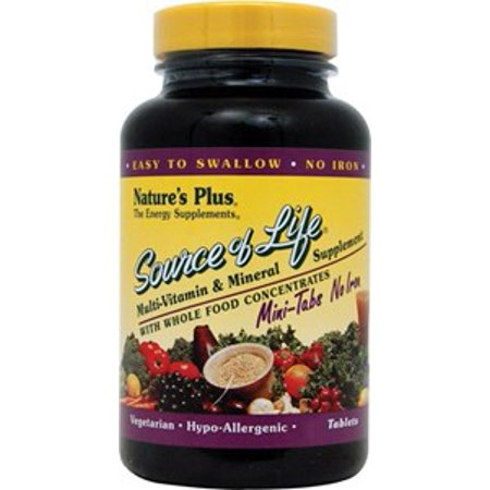 Nature's Plus Source of Life® Multi-Vitamin and Mineral Supplement No Iron -- 90