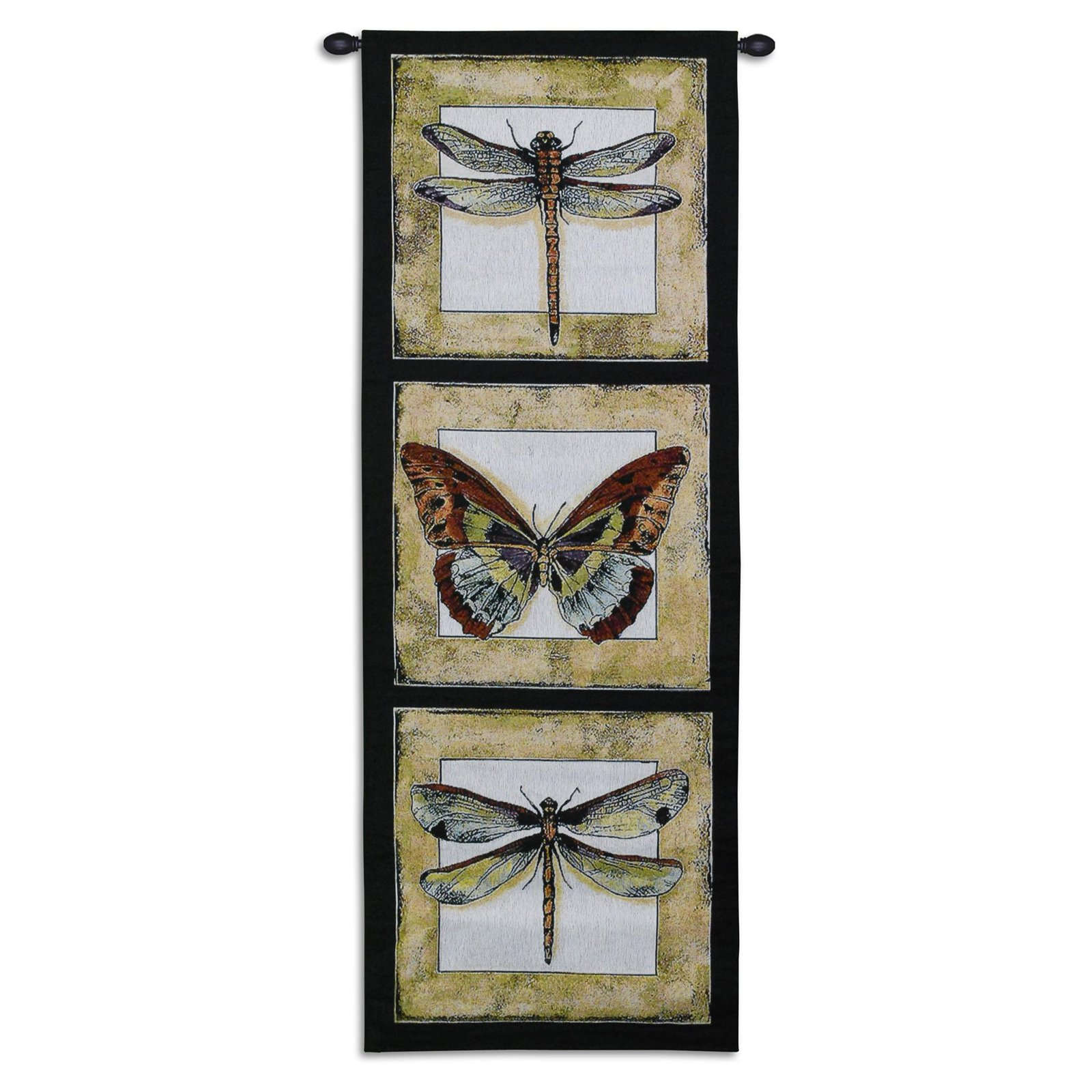 FineArtTapestries 3124-WH Butterfly Dragonfly II Tapestry Wall Tapestry by Supplier Generic