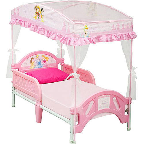 Disney Princess Toddler Bed with Canopy  sc 1 st  Walmart : canopy for toddler princess bed - memphite.com