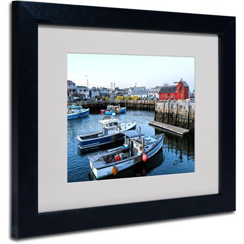 "Trademark Fine Art ""Boston 7"" Matted Framed Art by CATeyes"