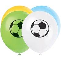 """12"""" Soccer Latex Balloons, 8pk"""