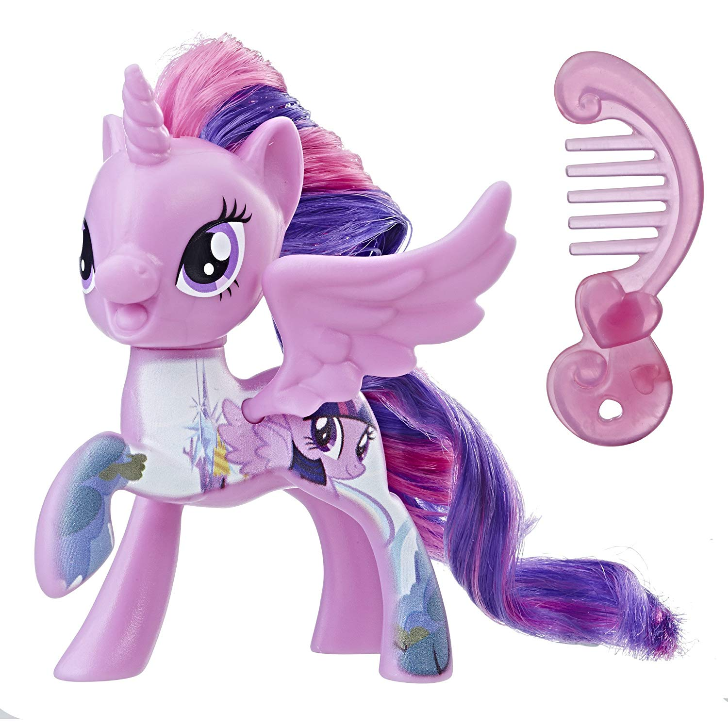 The Movie All About Princess Twilight Sparkle Doll, Fun, colorful ponies with pretty hair and Cutie Mark designs By My Little Pony