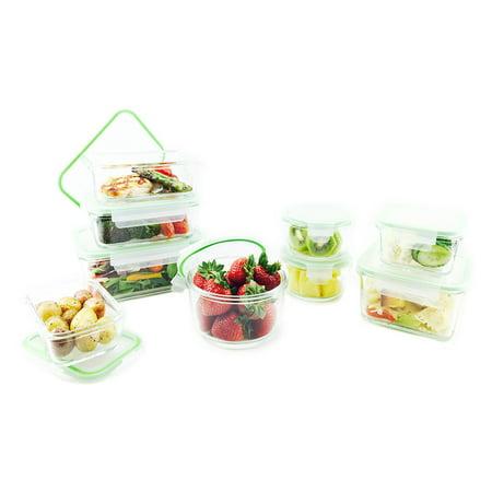 Kinetic Go Green Glassworks Oven Safe Glass Food Storage 18 pc Box