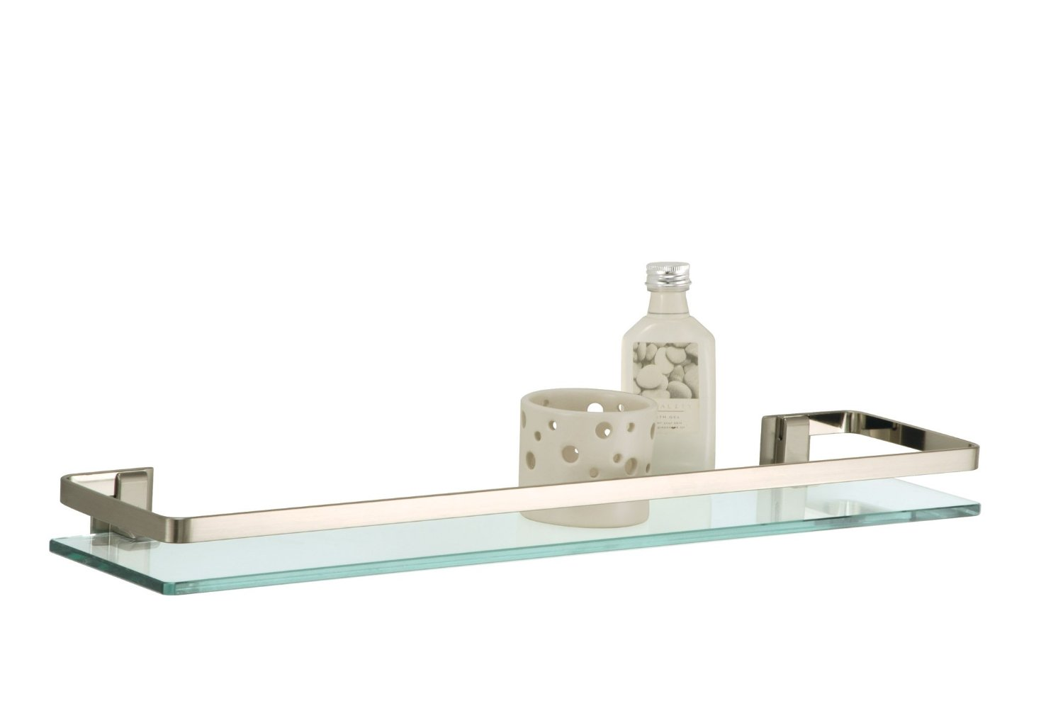 Neu Home Glass Shelf With Nickel Rail Walmart Com