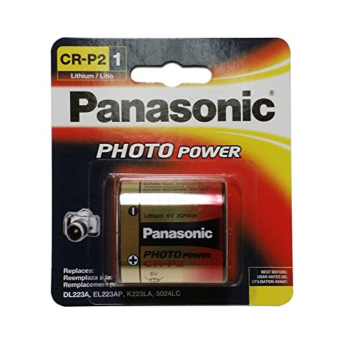 Panasonic CR-P2PA/1B Photo Power CR-P2 Lithium Battery, 1 Pack (Gold)