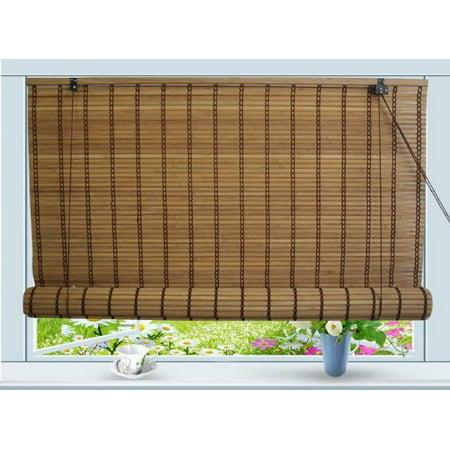 Bamboo Roll Up Window Blind Sun Shade W30 X H72