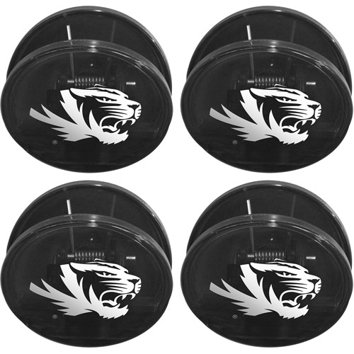 NCAA Missouri Tigers Magnetic Chip Clip Set, 4pk