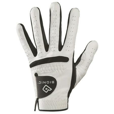 Bionic Glove - Bionic Men's Cadet RelaxGrip Black Palm Left Handed Golf Glove - M/L