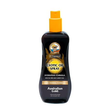 Deep Tanning Dry Oil - Australian Gold Exotic Oil Spray, Dark Tanning Formula, 8 FL OZ