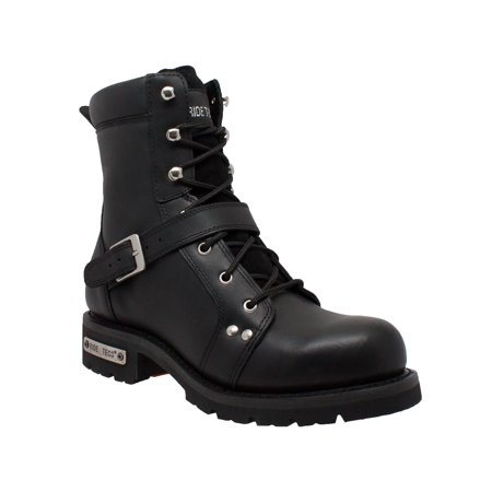 Leather Street Motorcycle Boots (Men's 8